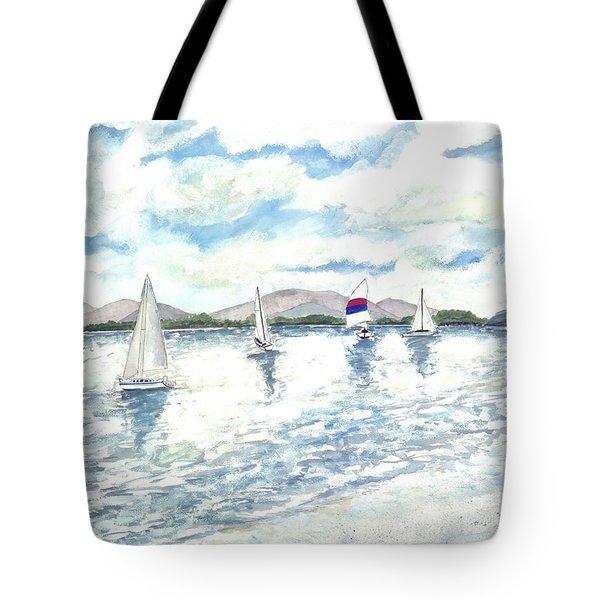 Sailboats Tote Bag by Derek Mccrea
