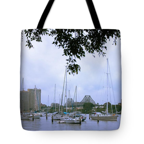Sailboats In Brisbane Australia Tote Bag