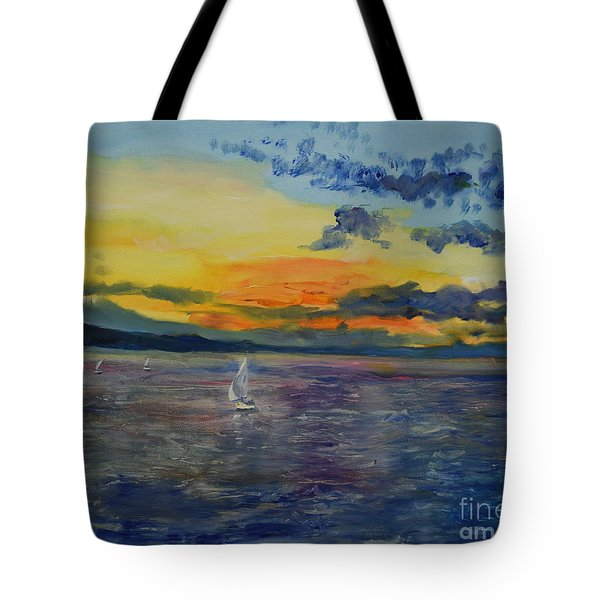 Sailboats Near Stockholm Tote Bag