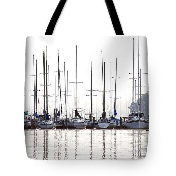 Sailboats Reflected Tote Bag