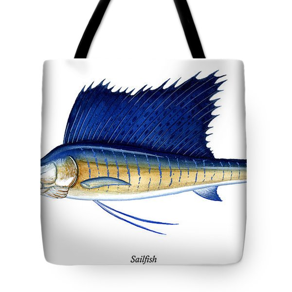 Sailfish Tote Bag by Charles Harden