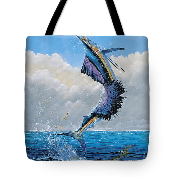 Sailfish Dance Off0054 Tote Bag by Carey Chen