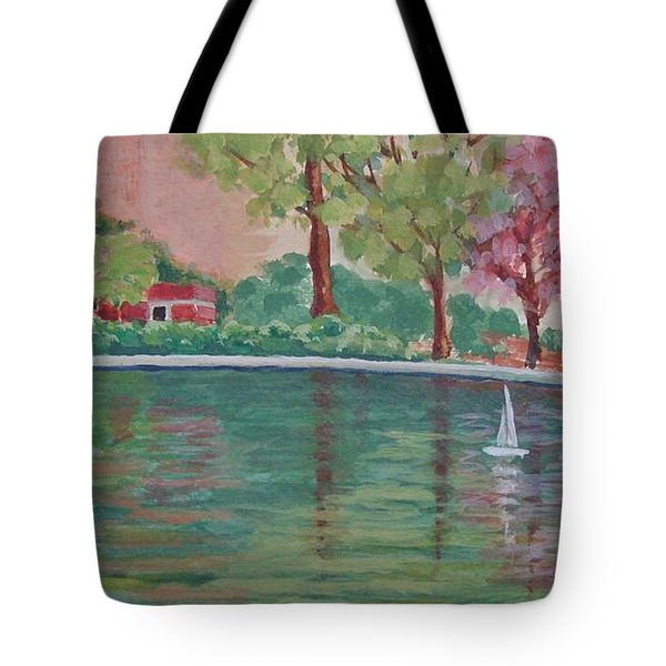 Sailin' Away In Central Park Tote Bag by Margaret Bobb