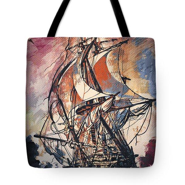 Sailing 2  Tote Bag