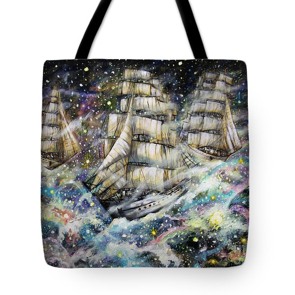 Sailing Among The Stars Tote Bag