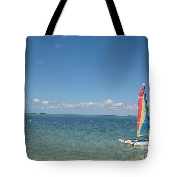 Sailing  At Key Largo Tote Bag by Christiane Schulze Art And Photography