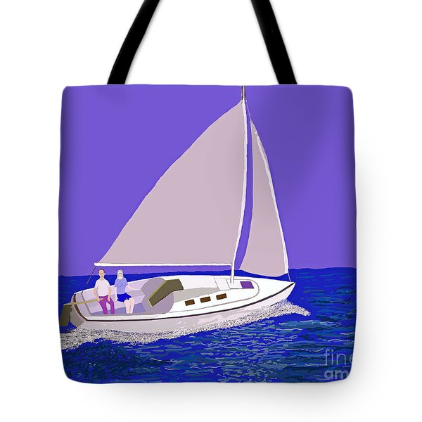 Sailing Blue Ocean Tote Bag