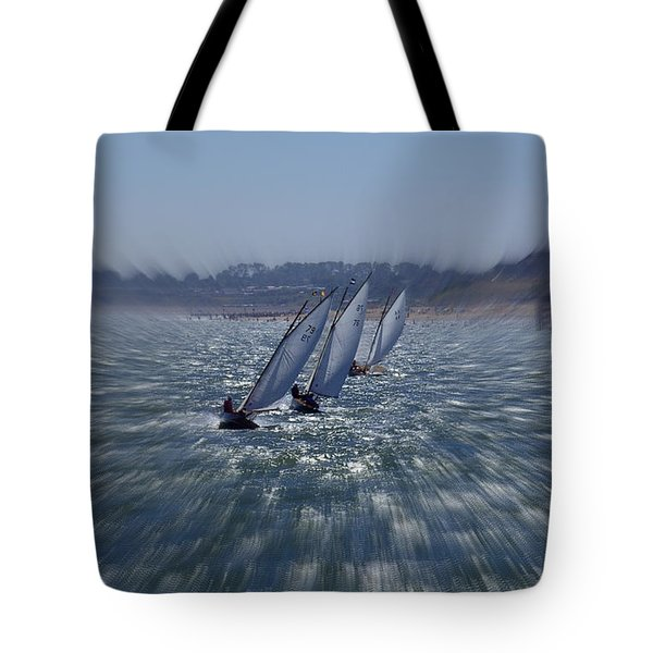 Sailing Boats Racing Tote Bag