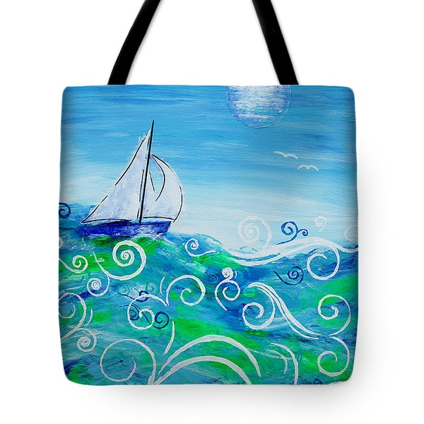 Sailing By Jan Marvin Tote Bag