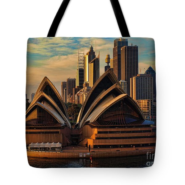 sailing by the Opera House Tote Bag