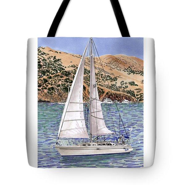 Sailing Catalina Island Sailing Sunday Tote Bag by Jack Pumphrey