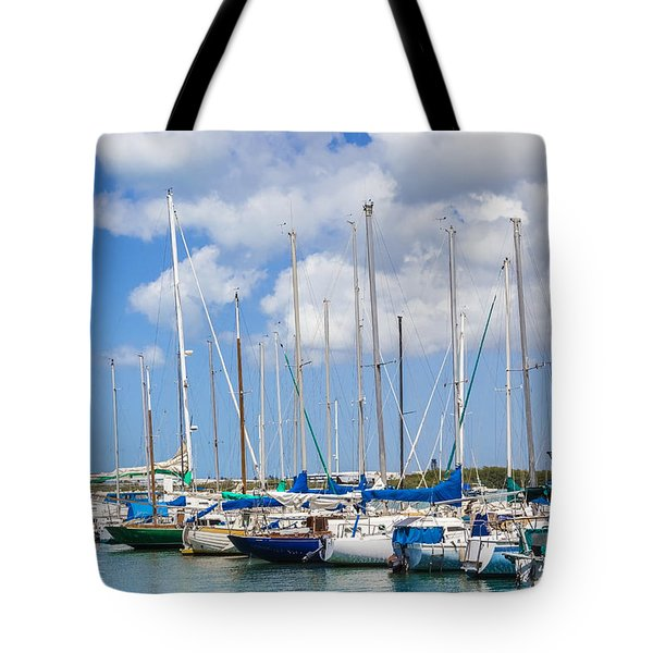 Tote Bag featuring the photograph Sailing Club Marina 1 by Leigh Anne Meeks