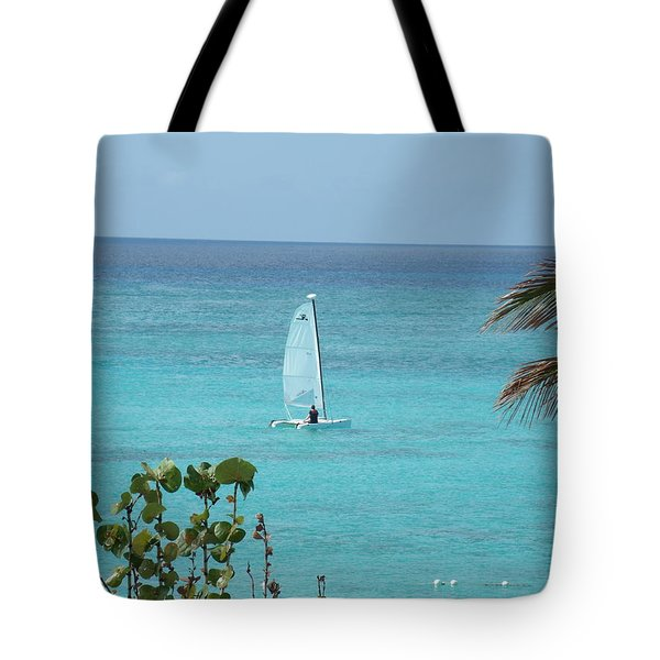 Tote Bag featuring the photograph Sailing by David S Reynolds