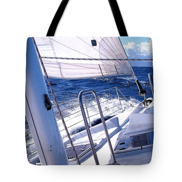 Sailing Hawaii Tote Bag by Joseph J Stevens
