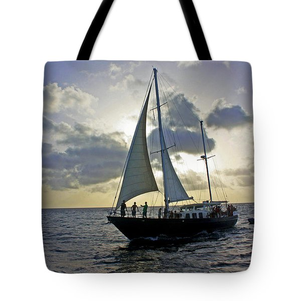 Sailing In Aruba Tote Bag