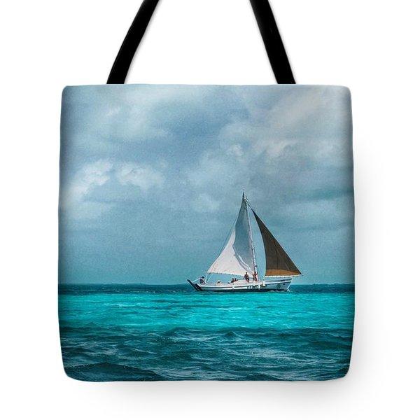 Sailing In Blue Belize Tote Bag