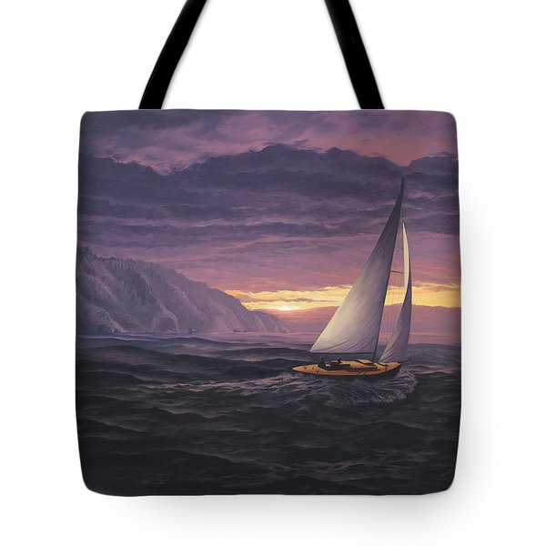 Sailing In Paradise - Big Sur Tote Bag
