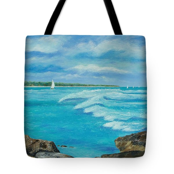 Sailing In The Bay Tote Bag