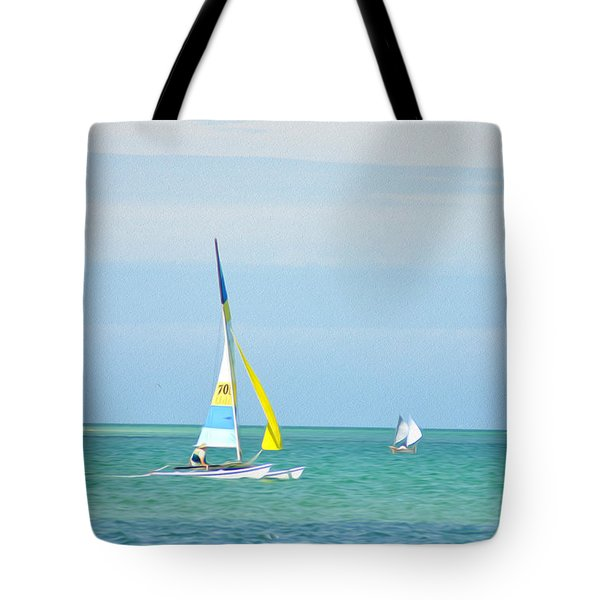 Sailing In The Gulf Of Mexico Tote Bag by Bill Cannon