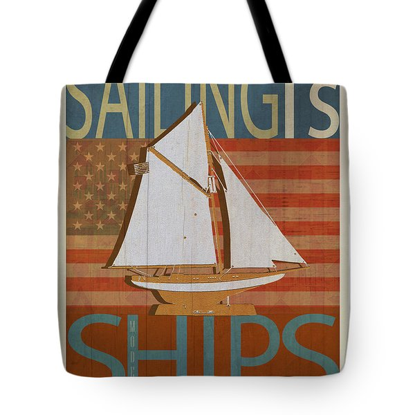 Sailing Is Model Ships Columbia Tote Bag