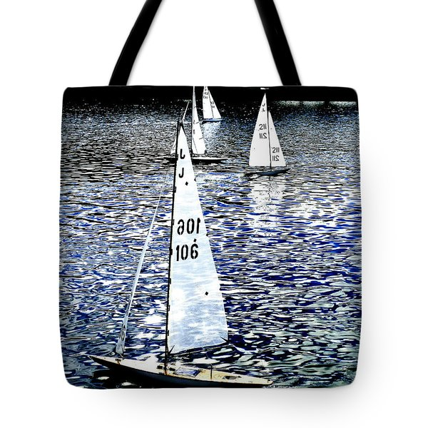 Sailing On Blue Tote Bag by Steve Taylor