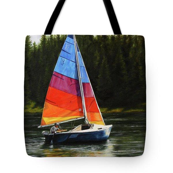 Sailing On Flathead Tote Bag