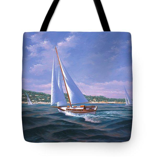 Sailing On Monterey Bay Tote Bag