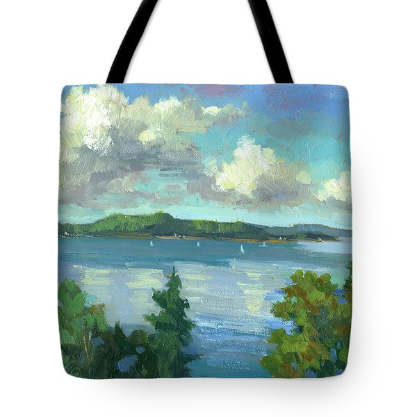 Sailing On Puget Sound Tote Bag by Diane McClary