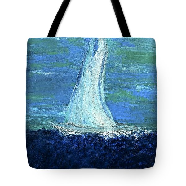 Sailing On The Blue Tote Bag
