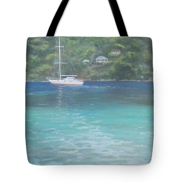 Sailing On The Caribbean Tote Bag