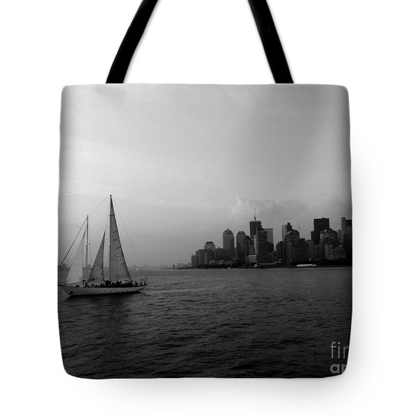 Sailing On The Hudson Tote Bag by Avis  Noelle