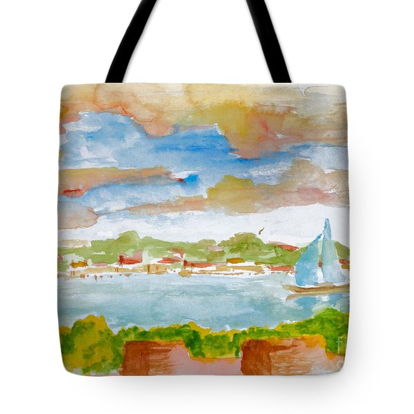 Sailing On The River Tote Bag