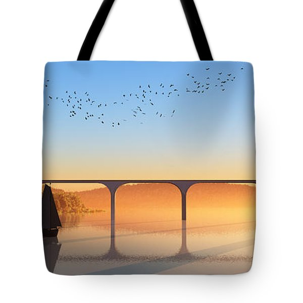 Sailing Out To Sea... Tote Bag by Tim Fillingim