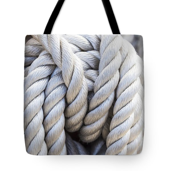 Tote Bag featuring the photograph Sailing Rope 1 by Leigh Anne Meeks