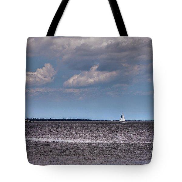 Tote Bag featuring the photograph Sailing by Sennie Pierson