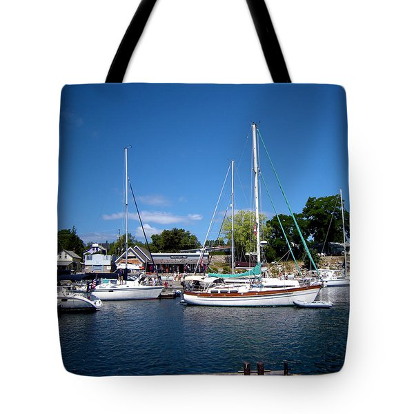 Sailing The Blue Waters Tote Bag by Ron Haist