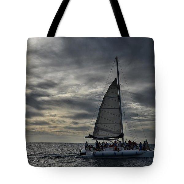 Sailing The Caribbean Tote Bag