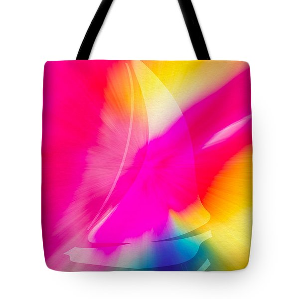 Tote Bag featuring the digital art Sailing The Cosmos by Frank Bright