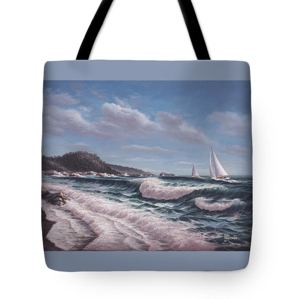 Sailing Toward Point Lobos Tote Bag