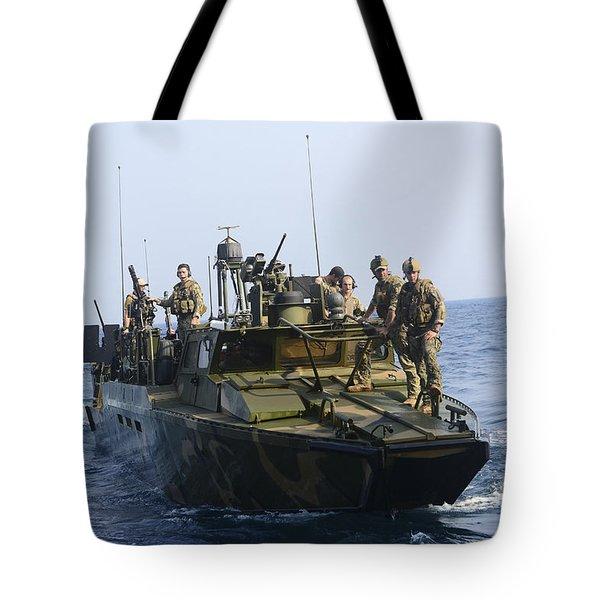 Sailors Conduct Patrol Operations Tote Bag by Stocktrek Images