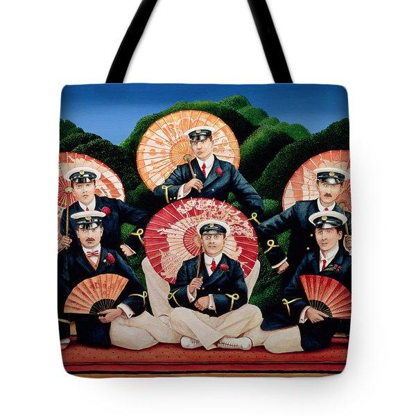 Sailors With Umbrellas Tote Bag