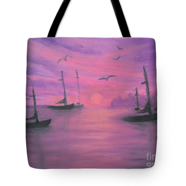 Sails At Dusk Tote Bag