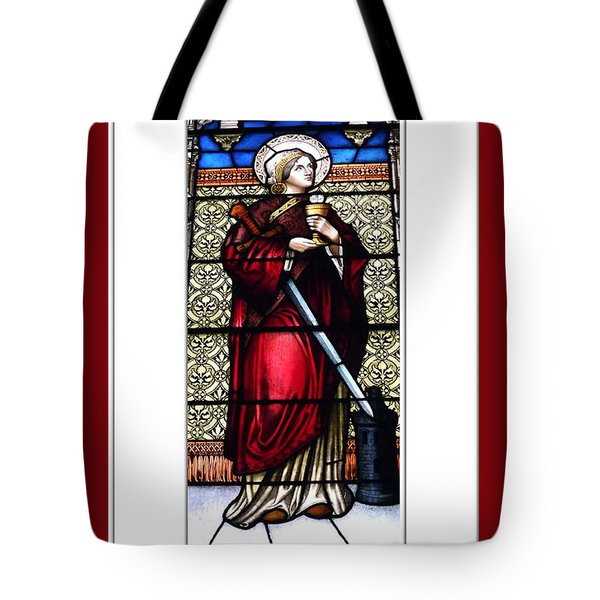 Saint Barbara Stained Glass Window Tote Bag