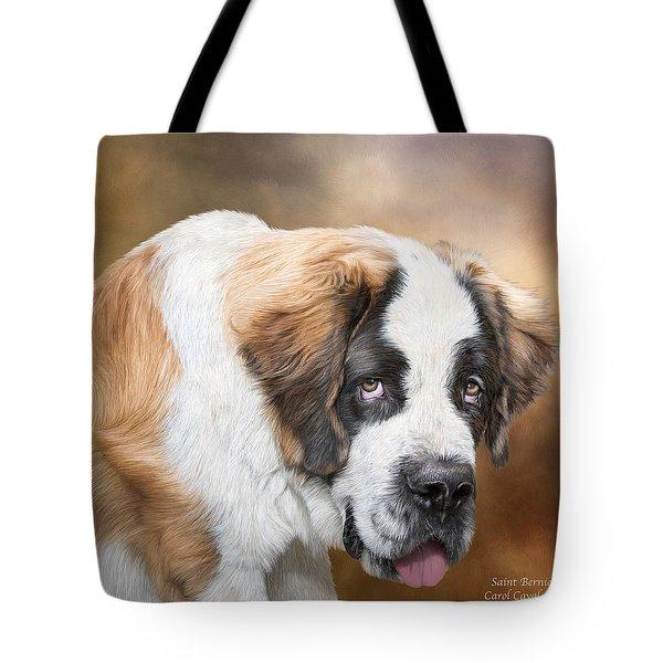 Saint Bernie Tote Bag by Carol Cavalaris