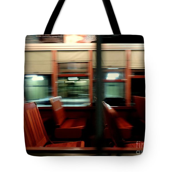 New Orleans Saint Charles Avenue Street Car In New Orleans Louisiana #6 Tote Bag
