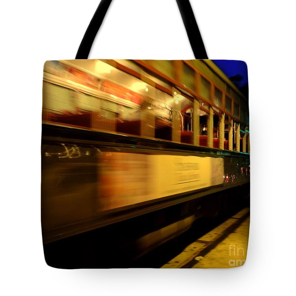 New Orleans Saint Charles Avenue Street Car In  Louisiana #7 Tote Bag