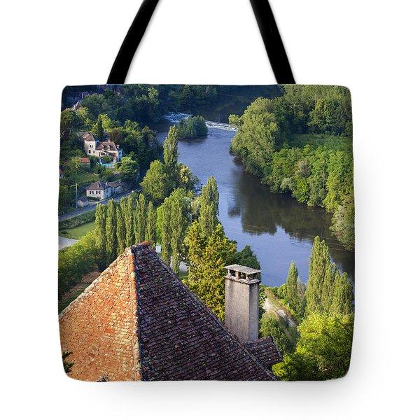 Saint Cirq Lapopie Tote Bag by Brian Jannsen
