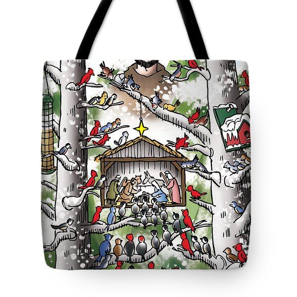 St. Francis And The Birds Tote Bag