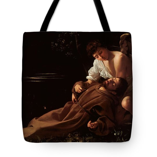 Saint Francis Of Assisi In Ecstasy 2 Tote Bag by Caravaggio