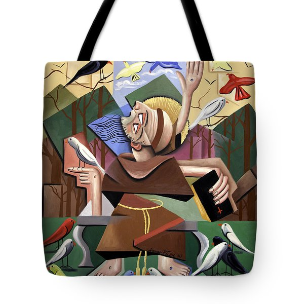 Saint Francis Sermon To The Birds Tote Bag by Anthony Falbo